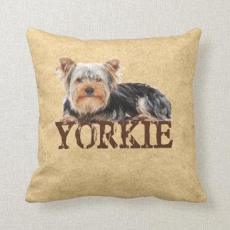 Yorkie Throw Pillow