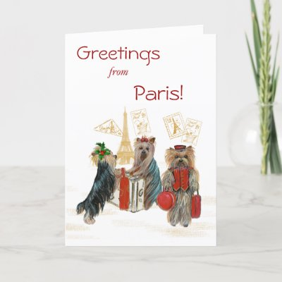 Eiffel Tower Pictures Christmas on Yorkie Travel Paris Eiffel Tower Christmas Card Zazzle Co Uk