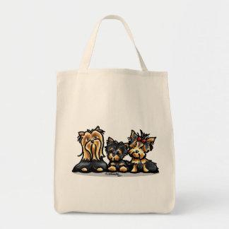 Yorkie Trio Tote Bag
