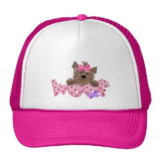 Yorkie Woof Trucker Hats