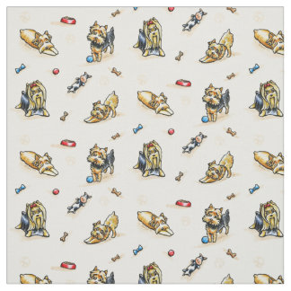 Yorkie World Natural White Fabric