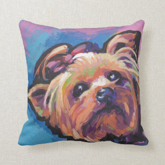 Yorkie Yorkshire Terrier Pop Art Cushion