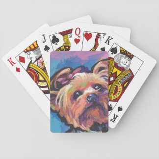 Yorkie Yorkshire Terrier Pop Art Playing Cards