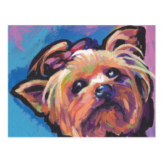 Yorkie Yorkshire Terrier Pop Art Postcard