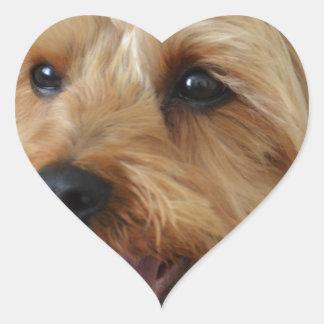 Yorkie Zac Heart Sticker