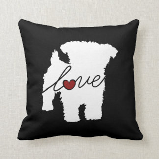 Yorkiepoo (Yorkie / Poodle) Love Cushion