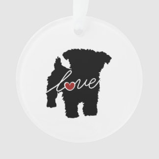Yorkiepoo (Yorkie / Poodle) Love Ornament