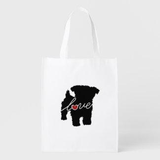 Yorkiepoo (Yorkie / Poodle) Love Reusable Grocery Bag