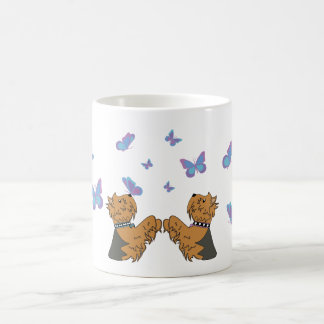 Yorkies and Butterflies Coffee Mug
