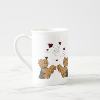 Yorkies and Ladybirds Tea Cup