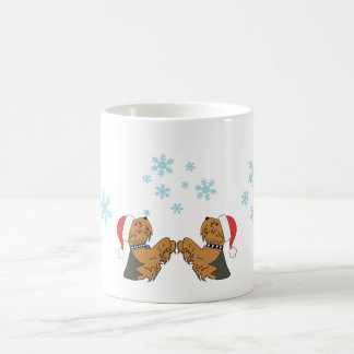 Yorkies and Snowflakes Coffee Mug
