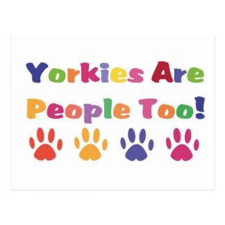 Yorkies Are People Too Postcard