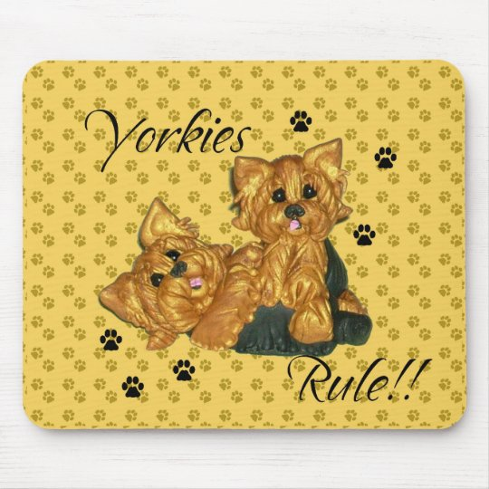 Yorkies rule!!   Computer Mouse pad