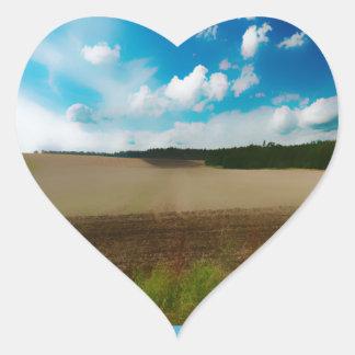 Yorkshire Blur in the border Heart Sticker