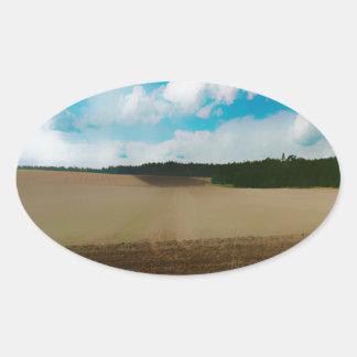 Yorkshire Blur Oval Sticker