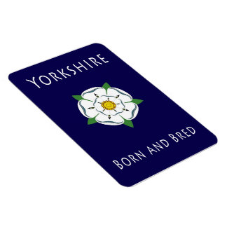 Yorkshire Born and Bred flexible fridge magnet