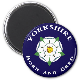 Yorkshire Born and Bred Fridge Magnet