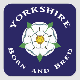 Yorkshire Born Bred Stickers