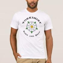 Yorkshire Born & Bred white T Shirt