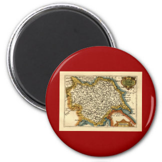 Yorkshire County Map, England Magnet