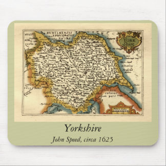 Yorkshire County Map, England Mouse Mat