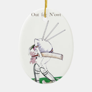 Yorkshire Cricket 'out for n'owt' Christmas Ornament