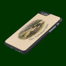 Yorkshire Dales maple iPhone 6 case. Carved Maple iPhone 6 Case