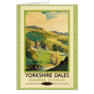 Yorkshire Dales Travel Poster Card