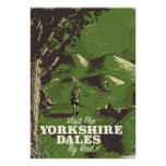 Yorkshire Dales vintage style travel poster