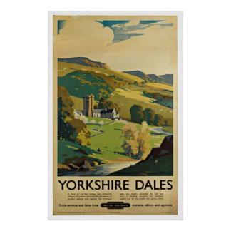 Yorkshire England - Vintage Travel Posters