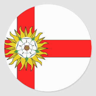 Yorkshire (Flag Institute), United Kingdom Classic Round Sticker