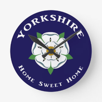 Yorkshire Home Sweet Home Wall Clock