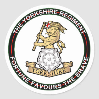 Yorkshire Regiment Classic Round Sticker