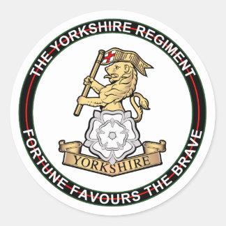 Yorkshire Regiment Round Stickers