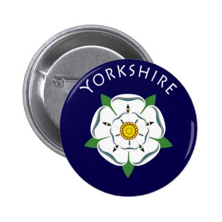Yorkshire Rose Button - Badge