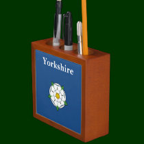 Yorkshire Rose Desk Organiser