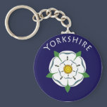 Yorkshire Rose Keychain
