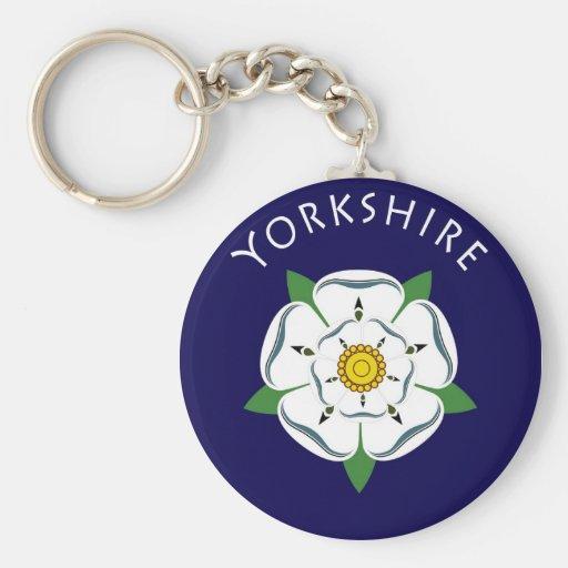 Yorkshire Rose Keychain