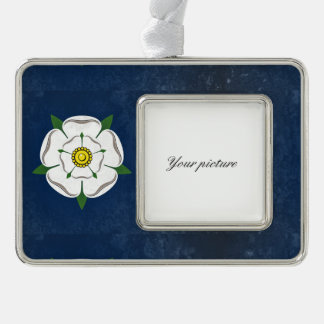 Yorkshire Silver Plated Framed Ornament