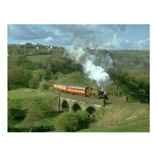 Yorkshire steam at Mytholmes Viaduct, KWVR Postcard