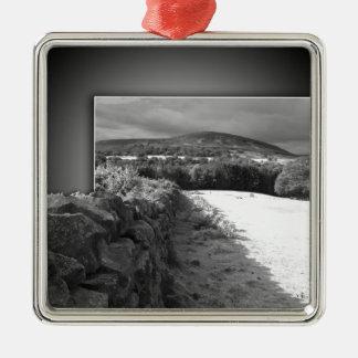 Yorkshire stone wall christmas ornament