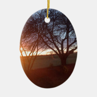Yorkshire Sunset Ceramic Oval Decoration