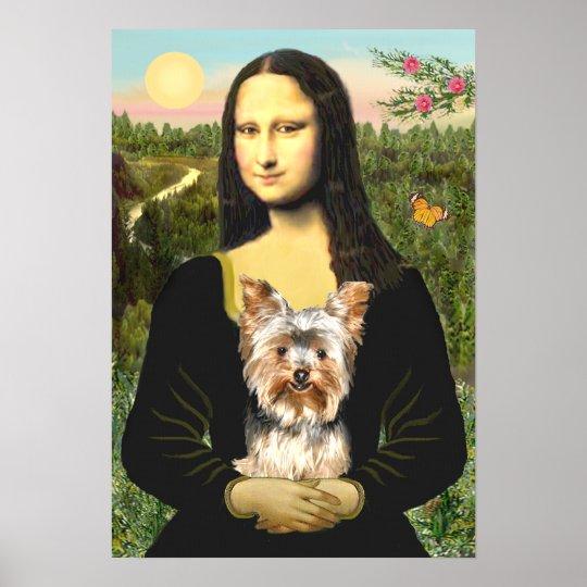 Yorkshire Terrier 17 - Mona Lisa Poster