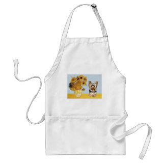 Yorkshire Terrier 17 - Sunflowers Standard Apron