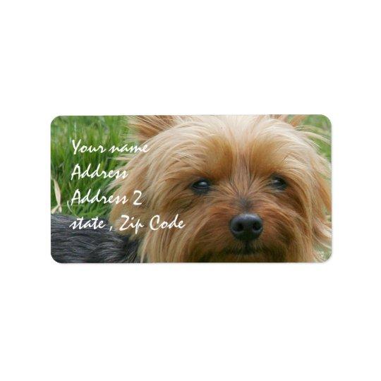 Yorkshire Terrier Address Label