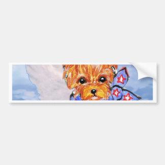 Yorkshire terrier angel bumper sticker
