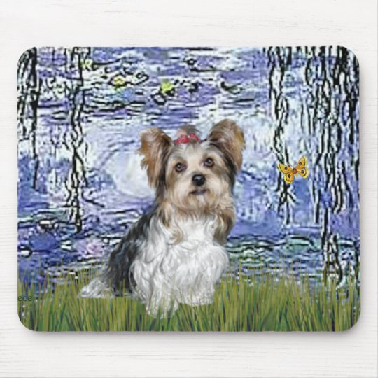 Yorkshire Terrier (Biewer) - Lilies 6 Mouse Pad
