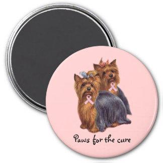 Yorkshire Terrier Breast Cancer Magnet