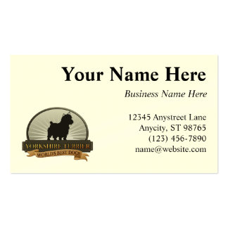 Yorkshire Terrier Double-Sided Standard Business Cards (Pack Of 100)