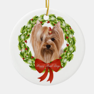 Yorkshire Terrier Christmas Ornament